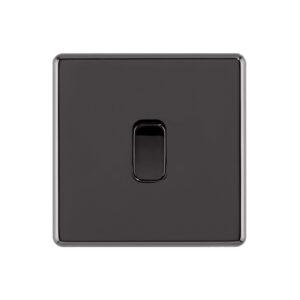 black nickel Arlec Fusion light switch front