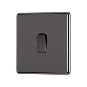 black nickel Arlec Fusion light switch angle