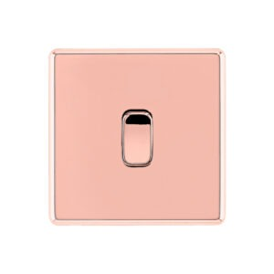 Rose G old Arlec Fusion single light switch front