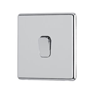 Polished Chrome Arlec Fusion intermediate switch angle