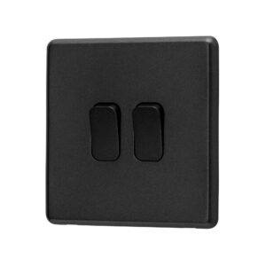 Charcoal Grey Arlec Rocker Light Switch angle view