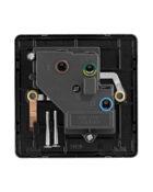 black nickel Arlec Fusion single socket back