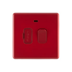 Cherry red Arlec Fusion fused connection switch front