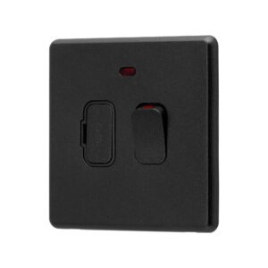 Charcoal Grey Arlec Rocker Fused Connection Unit Switch angle