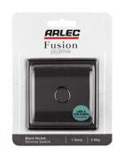 Black Nickel Arlec Fusion single dimmer switch packaging