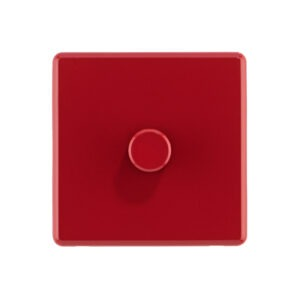 Cherry Red Arlec Rocker dimmer switch front