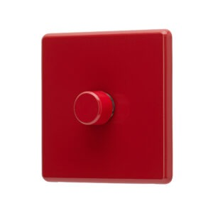 Cherry Red Arlec Rocker dimmer switch angle