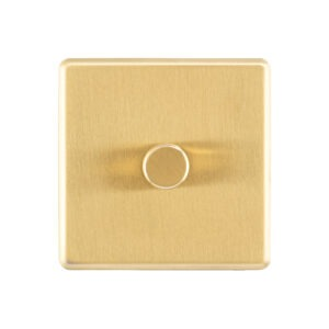 Gold Arlec Fusion single dimmer front