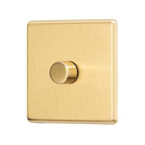 Gold Arlec Fusion single dimmer angle