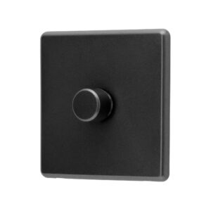Charcoal Grey Arlec Rocker Dimmer Switch angle