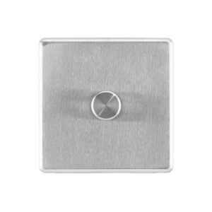 Stainless steel Arlec Fusion signle dimmer switch front