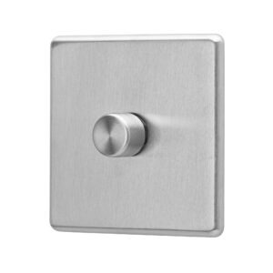 Stainless steel Arlec Fusion signle dimmer switch angle