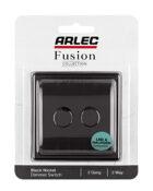 black nickel Arlec Fusion dimmer light switch packaging