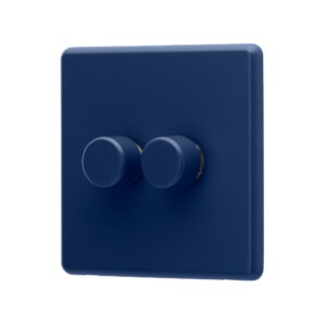 Galaxy Blue Rocker double dimmer switch angle