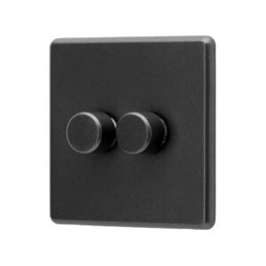 Charcoal Grey Arlec Rocker 2G Dimmer Switch angle