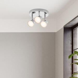 Apollo LED spotlight 3 lamp plate chrome 2