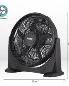 20 Inch Plastic Floor Fan Black 5