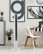 38 Inch Digital Touch Screen Slimline Tower Fan with Remote Control White 3