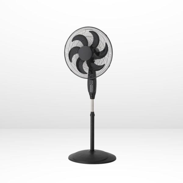 18 Inch Oscillating Pedestal Fan with Remote Control Black