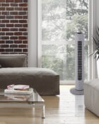 31 Inch Tower Fan with Remote Grey