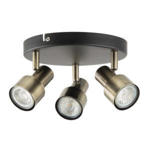 Noah 2 lamp plate spotlight antique brass 1