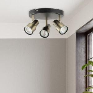 Noah 2 lamp plate spotlight antique brass 2