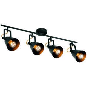 Black spotlight, Abigail 4 large lamp bar