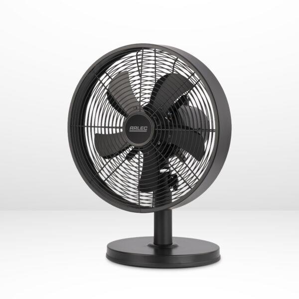 """12"""" black desk fan matte black"""