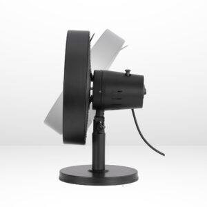 """12"""" black desk fan matte black 2"""