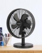 """12"""" black desk fan matte black 3"""