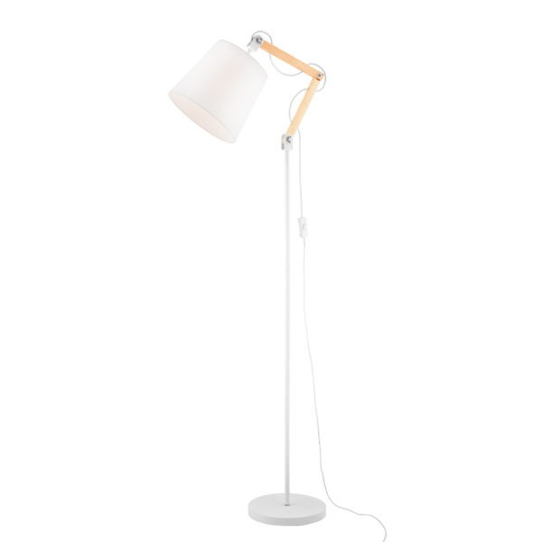Caleb Floor Lamp White Arlec Uk